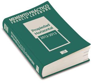 MEMENTO PRÁCTICO PROPIEDAD HORIZONTAL 2012-2013