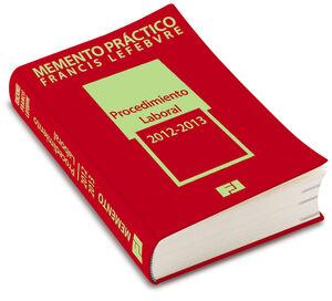 MEMENTO PRÁCTICO PROCEDIMIENTO LABORAL 2012-2013