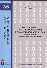 COMUNICABILIDAD EN LOS PORTALES WEB DE LA ADMINISTRACIÓN LOCAL Á ESTUDIO DE CASO EN LA COMUNIDAD DE