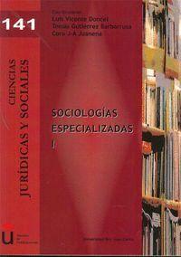 SOCIOLOGAS ESPECIALIZADAS I Á