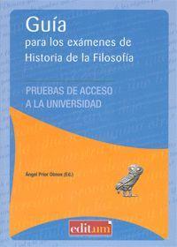 GUÍA PARA LOS EXÁMENES DE HISTORIA DE LA FILOSOFÍA