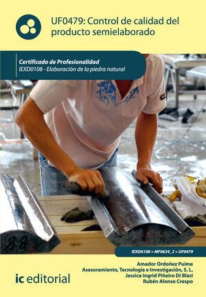 CONTROL DE CALIDAD DEL PRODUCTO SEMIELABORADO. IEXD0108 - ELABORACIÓN DE LA PIEDRA NATURAL