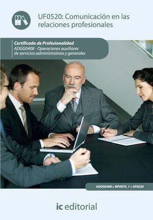 COMUNICACIÓN EN LAS RELACIONES PROFESIONALES. ADGG0408 - OPERACIONES AUXILIARES DE SERVICIOS ADMINISTRATIVOS Y GENERALES