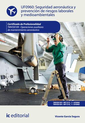 SEGURIDAD AERONÁUTICA Y PREVENCIÓN DE RIESGOS LABORALES Y MEDIOAMBIENTALES. TMVO0109 - OPERACIONES AUXILIARES DE MANTENIMIENTO AERONÁUTICO