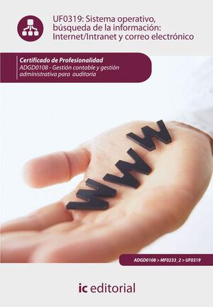 SISTEMA OPERATIVO, BÚSQUEDA DE INFORMACIÓN: INTERNET/INTRANET Y CORREO ELECTRÓNICO. ADGD0108 -  GESTIÓN CONTABLE Y GESTIÓN ADMINISTRATIVA PARA AUDITOR