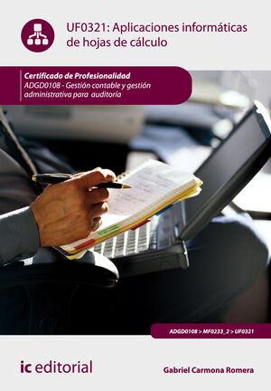 APLICACIONES INFORMÁTICAS DE HOJAS DE CÁLCULO. ADGD0108 -  GESTIÓN CONTABLE Y GESTIÓN ADMINISTRATIVA PARA AUDITORÍAS