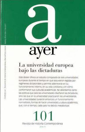 LA UNIVERSIDAD EUROPEA BAJO LAS DICTADURAS AYER 101
