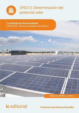 DETERMINACIÓN DEL POTENCIAL SOLAR. ENAC0108 - EFICIENCIA ENERGÉTICA DE EDIFICIOS