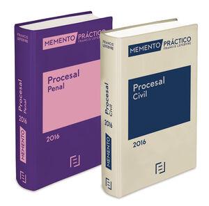 PACK MEMENTO PRÁCTICO PROCESAL PENAL 2016 + MEMENTO PRACTICO PROCESAL CIVIL 2016