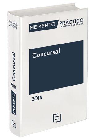MEMENTO PRÁCTICO CONCURSAL 2016