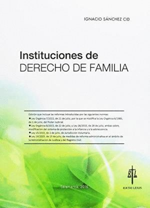 INSTITUCIONES DE DERECHO DE FAMILIA.