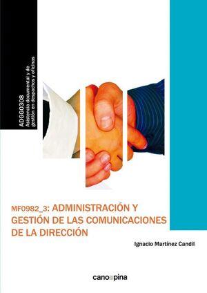 MF0982 ADMINISTRACIÓN Y GESTIÓN DE LAS COMUNICACIONES DE LA DIRECCIÓN