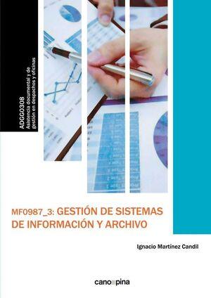 MF0987 GESTIÓN DE SISTEMAS DE INFORMACIÓN Y ARCHIVO