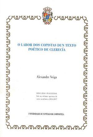O LABOR DOS COPISTAS DUN TEXTO POÉTICO DE CLERECÍA