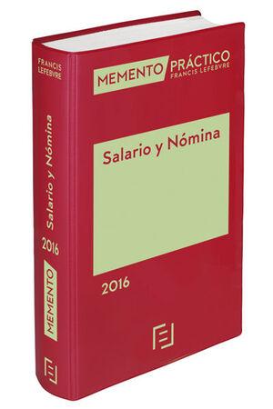 MEMENTO PRÁCTICO SALARIO Y NÓMINA 2016