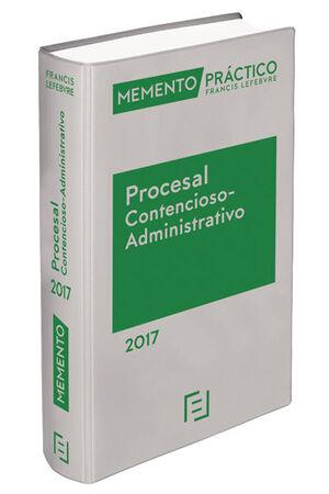 MEMENTO PRÁCTICO PROCESAL CONTENCIOSO ADMINISTRATIVO 2017