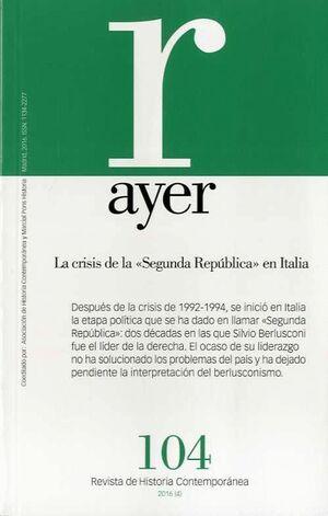 LA CRISIS DE LA SEGUNDA REPÚBLICA EN ITALIA AYER 104