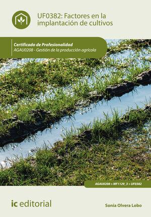 FACTORES EN LA IMPLANTACIÓN DE CULTIVOS. AGAU0208 - GESTIÓN DE LA PRODUCCIÓN AGRÍCOLA