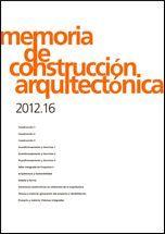 MEMORIA DE CONSTRUCCIÓN ARQUITECTÓNICA 2012.16