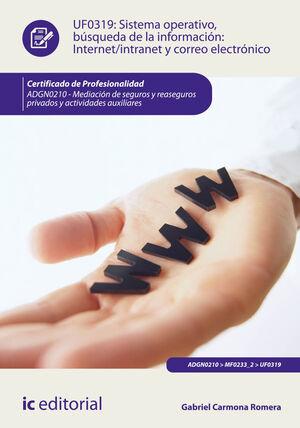 SISTEMA OPERATIVO, BÚSQUEDA DE INFORMACIÓN: INTERNET/INTRANET Y CORREO ELECTRÓNICO. ADGN0210 - MEDIACIÓN DE SEGUROS Y REASEGUROS PRIVADOS Y ACTIVIDADE