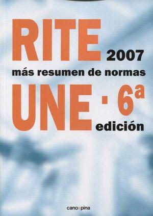 RITE+RESUMEN DE NORMAS UNE