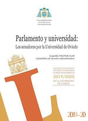 PARLAMENTO Y UNIVERSIDAD: LOS SENADORES POR LA UNIVERSIDAD DE OVIEDO