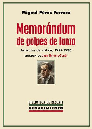 MEMORÁNDUM DE GOLPES DE LANZA