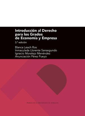 INTRODUCCIÓN AL DERECHO PARA LOS GRADOS DE ECONOMÍA Y EMPRESA (3ª EDICIÓN)