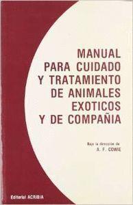MANUAL PARA CUIDADO Y TRATAMIENTO ANIMALES EXÓTICOS Y DE COMPAÑÍA