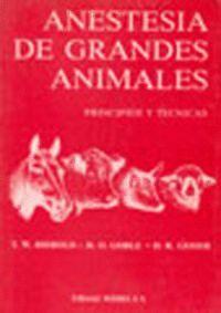 ANESTESIA DE GRANDES ANIMALES