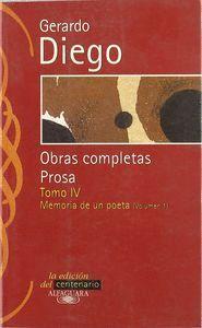 GERARDO DIEGO. OBRAS COMPLETAS. PROSA. TOMO IV