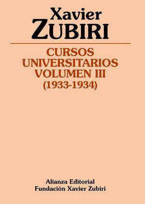 CURSOS UNIVERSITARIOS. VOLUMEN III (1933-1934)