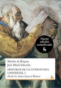 HIST.DE  LA LITERATURA UNIVERSAL 1 N.ED.
