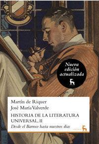 HISTORIA DE LA LITERATURA UNIVERSAL 2. NUEVA EDICIÓN