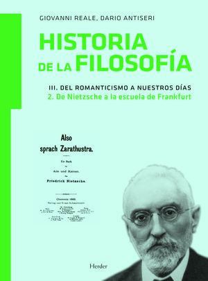 HISTORIA DE LA FILOSOFÍA III. DEL ROMANTICISMO A NUESTROS DÍAS