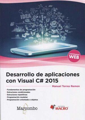 DESARROLLO DE APLICACIONES CON VISUAL C# 2015
