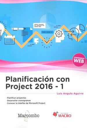 PLANIFICACIÓN CON PROJECT 2016-1