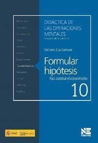 FORMULAR HIPÓTESIS PARA CONSTRUIR EL CONOCIMIENTO