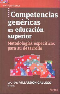 COMPETENCIAS GENÉRICAS EN EDUCACIÓN SUPERIOR METODOLOGAS ESPECFICAS PARA SU DESARROLLO