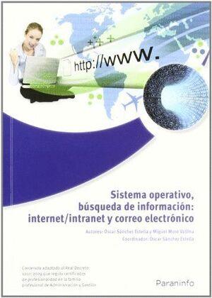 SISTEMA OPERATIVO, BÚSQUEDA DE LA INFORMACIÓN: INTERNET/INTRANET Y CORREO ELECTRÓNICO. WINDOWS 7, OUTLOOK 2007