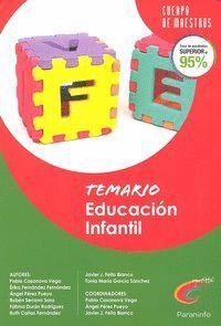 TEMARIO EDUCACIÓN INFANTIL. OPOSICIONES. CUERPO DE MAESTROS