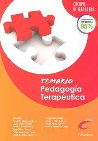 TEMARIO PEDAGOGÍA TERAPEÚTICA. OPOSICIONES. CUERPO DE MAESTROS