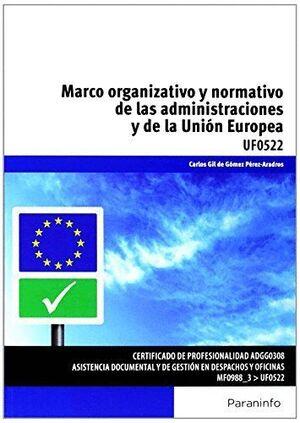 MARCO ORGANIZATIVO Y NORMATIVO DE LAS ADMINISTRACIONES PÚBLICAS Y DE LA UNIÓN EUROPEA