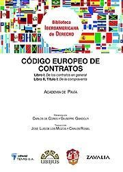 CÓDIGO EUROPEO DE CONTRATOS DE LA ACADEMIA DE PAVÍA