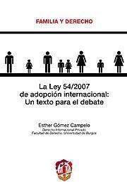LA LEY 54/2007 DE ADOPCIÓN INTERNACIONAL