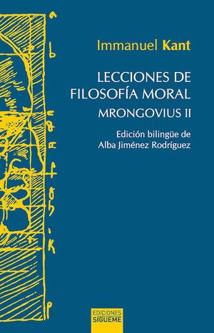 LECCIONES DE FILOSOFÍA MORAL