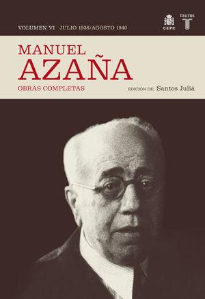 OBRAS COMPLETAS. VOLUMEN VI (JULIO 1936 / AGOSTO 1940)