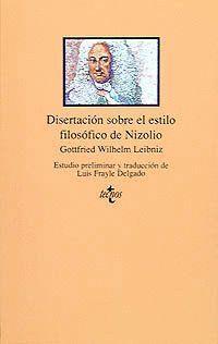 DISERTACIÓN SOBRE EL ESTUDIO FILOSÓFICO DE NIZOLIO