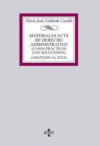 MATERIALES ECTS DE DERECHO ADMINISTRATIVO CASOS PRÁCTICOS CON SOLUCIONES