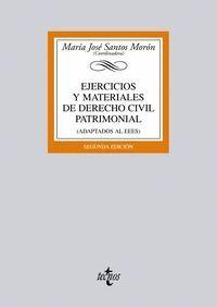 EJERCICIOS Y MATERIALES DE DERECHO CIVIL PATRIMONIAL (ADAPTADOS AL EEES)